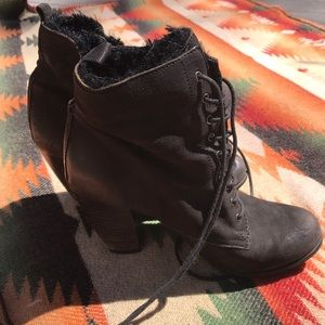 Boutique 9 Faux Fur Lined Heeled Boots